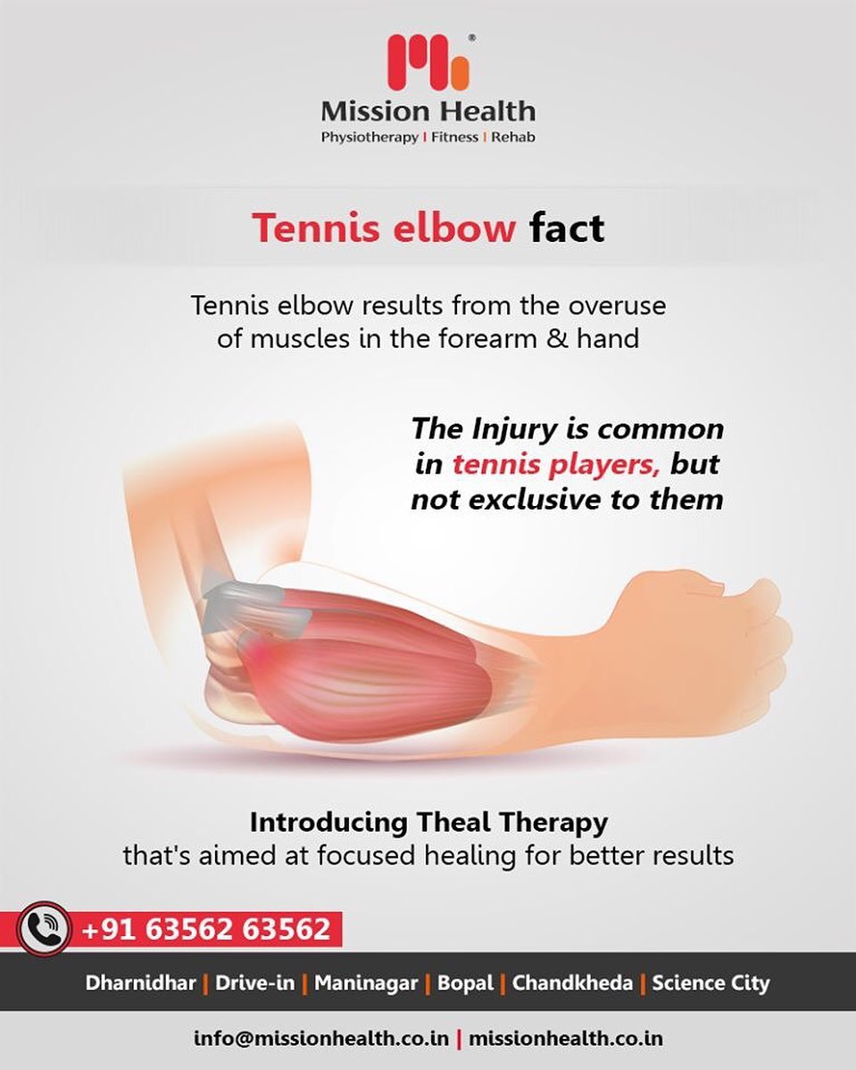 Tennis elbow can cause excruciating pain & needs immediate attention!  #TennisElbow #TennisElbowFacts #ElbowPain #MissionHealth #MissionHealthIndia #AbilityClinic #MovementIsLife