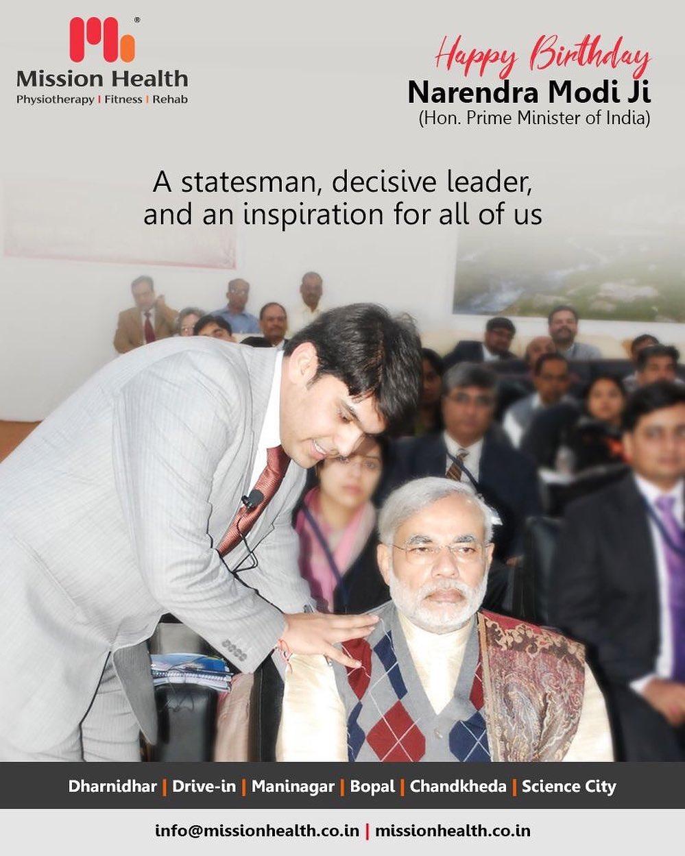 A statesman, decisive leader, and an inspiration for all of us.  #HappyBdayPMModi #HappyBirthDayPM #NarendraModi #NAMO #MissionHealth #MissionHealthIndia #AbilityClinic #MovementIsLife