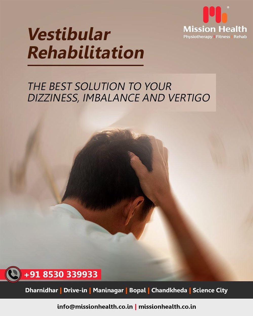 Do you frequently experience dizziness or light headedness?  Does your headache frequently?  Do you get dizzy or nauseate while driving a car?  If yes, join Vestibular Rehabilitation Therapy.  #VestibularRehabilitationTherapy #MissionHealth #MissionHealthIndia #MovementIsLife