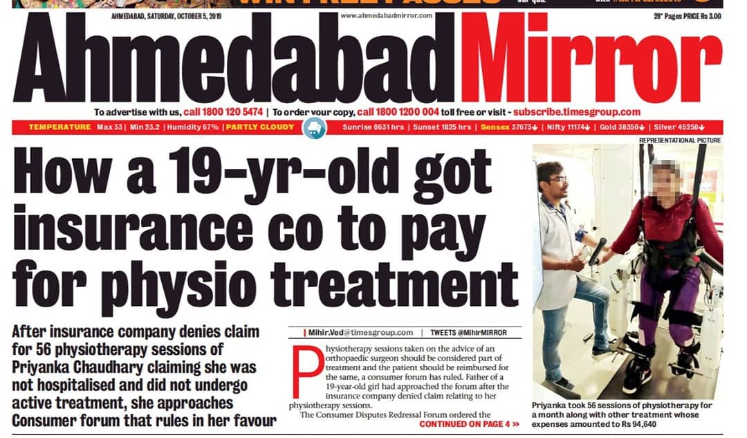 # How a 19 Year old got insurance company to pay for Physio treatment...