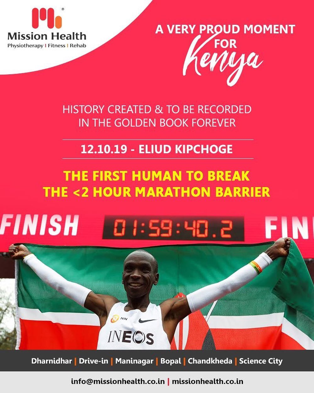 History created & to be recorded in the golden book forever.  #Kenya #ProudMoments #MissionHealth #MissionHealthIndia #fitnessgoals #MovementIsLife #PersonalTraining #weightmanagement #fitness