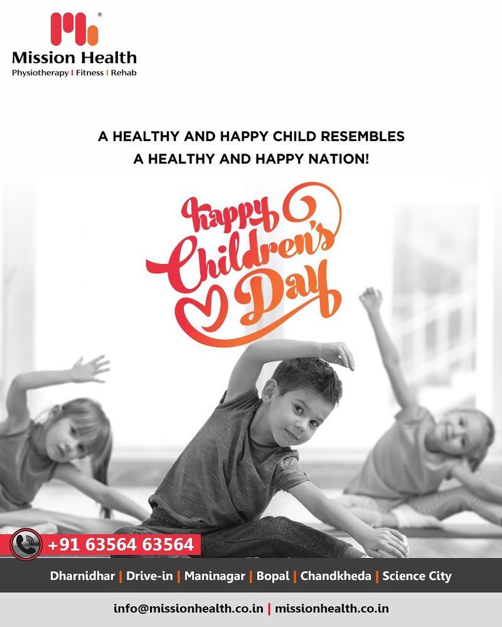 A healthy and happy child resembles a healthy and happy nation!  #HappyChildrensDay #ChildrensDay #MissionHealth #MissionHealthIndia #MovementIsLife #AbilityClinic