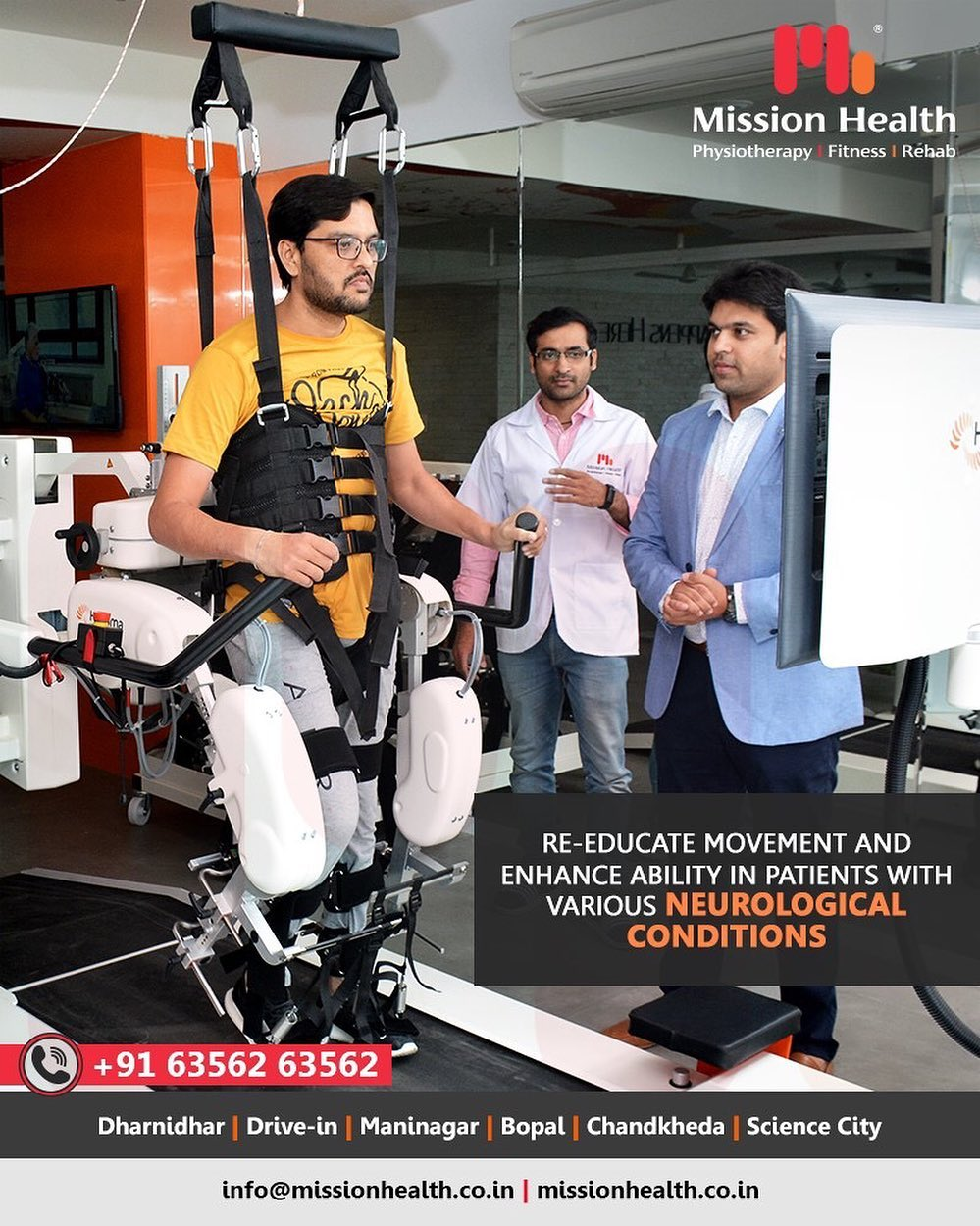Neurological rehab can often improve function and ability; enhance the well-being of the patient.  The goal of neurological rehab is to help patient return to the highest level of function and independence possible, while improving Physical, Mental & Social quality of life.  At Mission Health, Neuro Rehabilitation is highly specialized & specific, with evidence based & advanced treatment protocols.  Call +916356263562 www.missionhealth.co.in  #RoboticsNeuroRehab #roboticsinneurophysiotherapy #neurophysiotherapy #MissionHealth #MissionHealthIndia #AbilityClinic #MovementIsLife