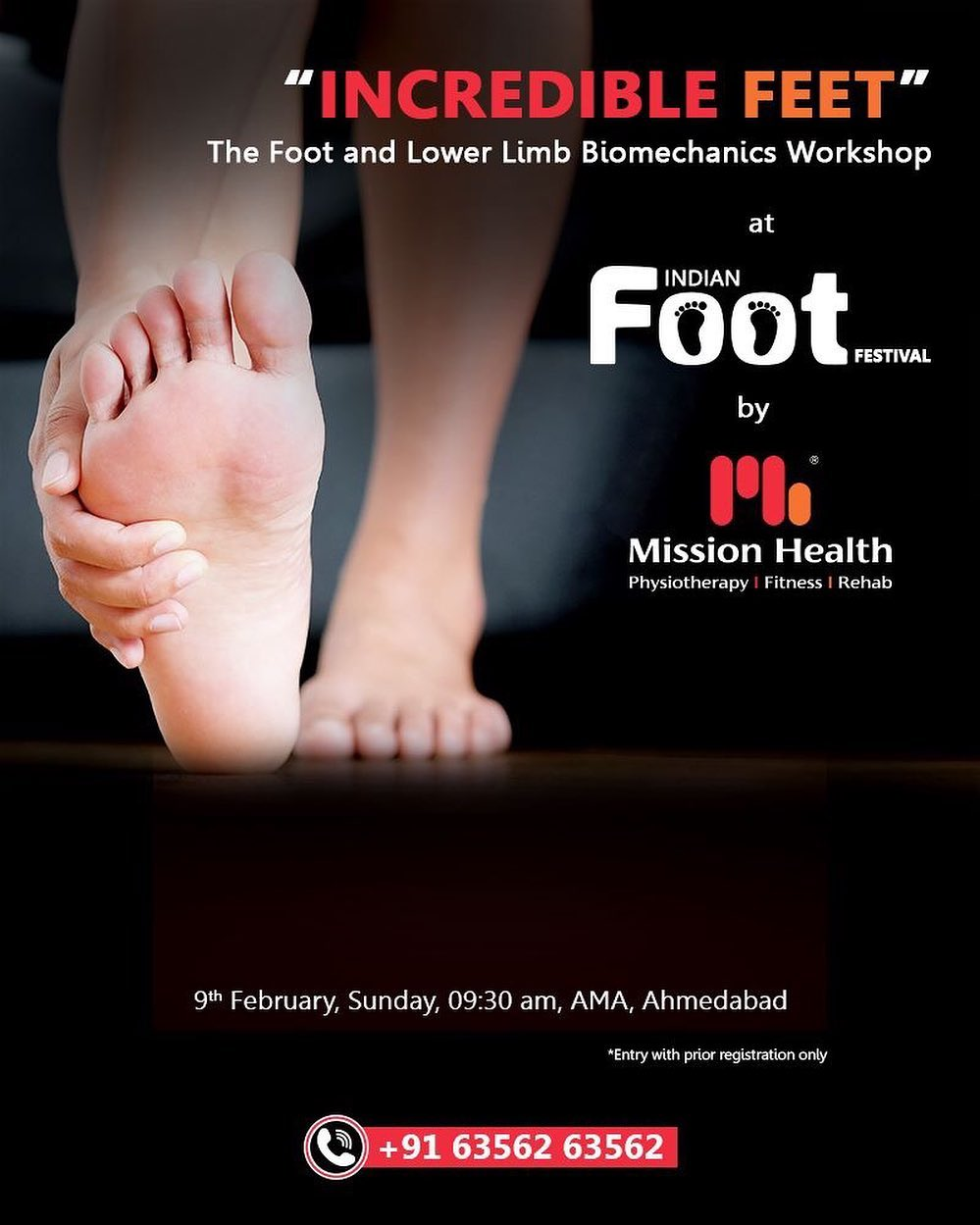The wait is over... Time to mark your calendar to resolve any of your FOOT & Lower Limb Problems... Entry with Prior Registrations only... Keep Reading this Space... Call: +916356263562 Visit: www.missionhealth.co.in  #IndianFootFestival #ComingSoon #FootClinic #footpain #footcare #foothealth #heelpain #anklepain #flatfeet #painrelief #healthyfeet #happyfeet #MissionHealth #MissionHealthIndia #MovementIsLife