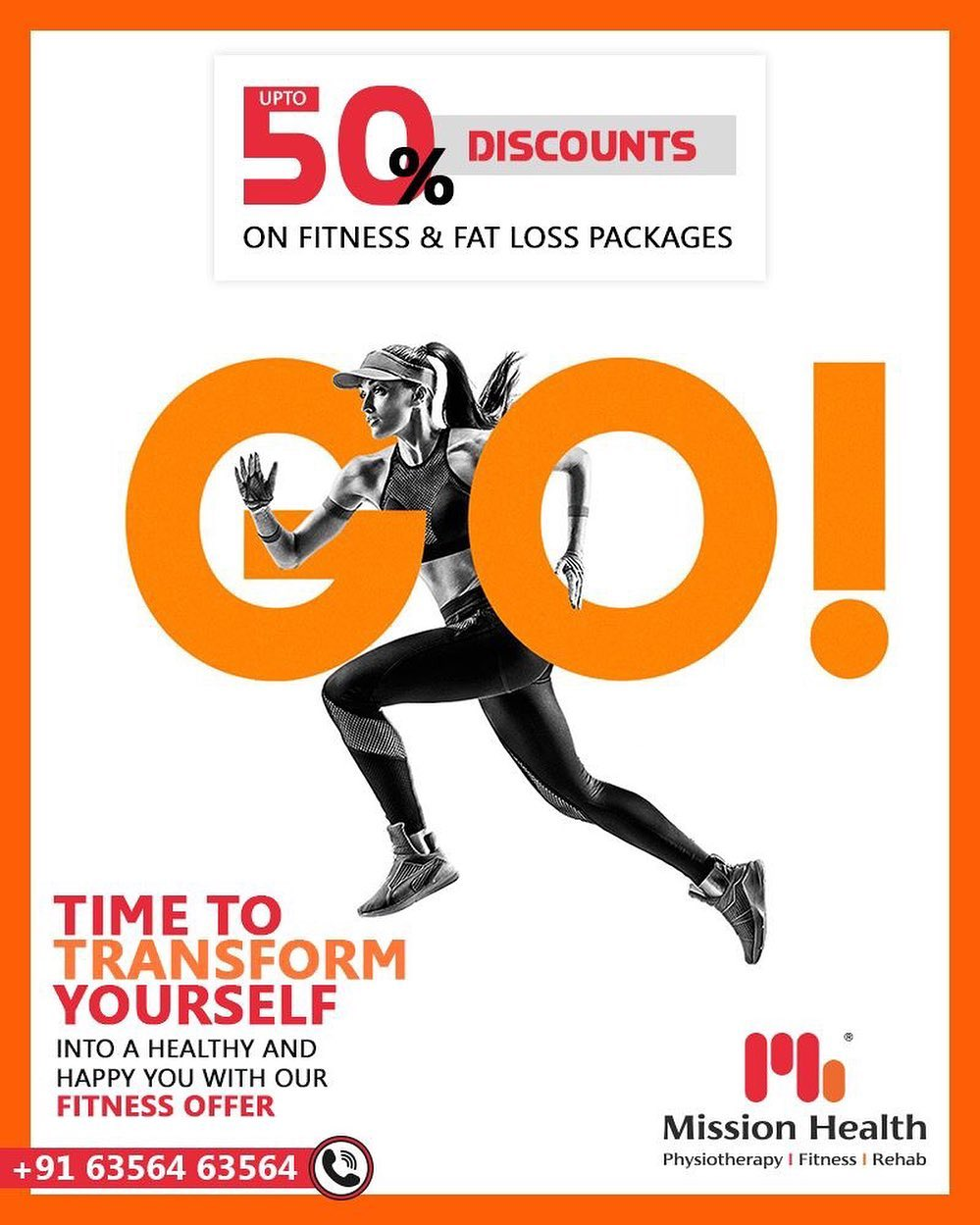 Make your fitness goals come true with our fitness offer  Up to 50% off in various fitness & inch loss packages at Mission Health Fitness Boutique. Few days left, hurry up!  Call: +916356463564 Visit: www.missionhealth.co.in  #fitnesspackages #gymoffers #inchloss #fitnessworkout #fitness #fitnessmotivation #workout #fitnesslife #gym #workoutmotivation #fitnessaddict #fitnesscoaching #healthchallenge #MissionHealth #MissionHealthIndia #MovementIsLife