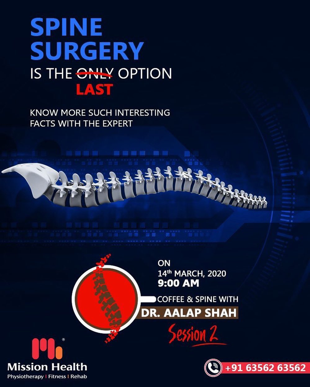 Coffee & Spine with Dr. Alap Shah is back again with Session 2 to solve all your spine problems and offer hope of pain-free life.  For more details, keep reading this space... Call: +916356263562 Visit: www.missionhealth.co.in  #CoffeeAndSpineWithDrAalapShah #DrAalapShah #SuperSpecialitySpineClinic #SpineClinic #BackPain #NeckPain #SlippedDisc #MissionHealth #MissionHealthIndia #AbilityClinic #MovementIsLife