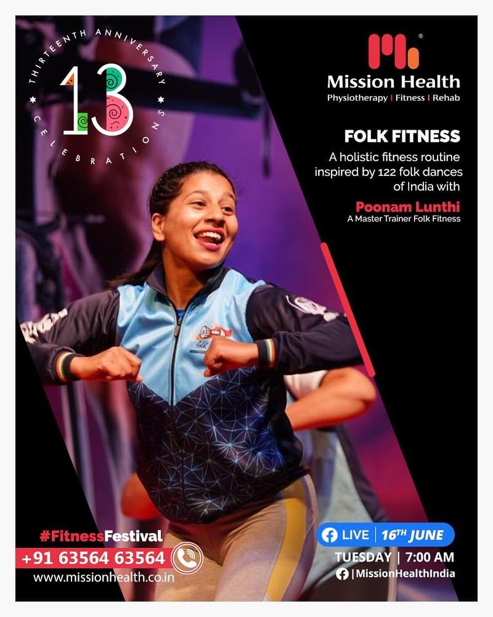 Dance is a powerful tool to maintain fitness. Be it physical or mental fitness. It also helps reducing fat and take us back in shape! Let us experience our glorious culture of Folk Dance as our fitness regime.  Take a step towards