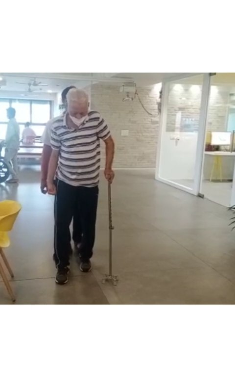 Mr. Girish Jha, 82 yrs old, started his journey towards independence with Mission Health 1 and half month back. After stroke he was unable to perform alot of his day to day tasks on his own, his main goal was to walk independently again..  With Advanced Neuro Rehabilitation  and Robotics , Mr. Jha is now on his way to lead a normal life again.. His spirit for life motivates us all..  #NeuroRobotics  #neurorehabilitation  #abilitynotdisability  #abilityclinic  #bestphysiotherapyclinicinahmedabad  #bestrobotics  #MissionHealth  #missionhealthindia  #explorepage✨  #strokerecovery  #movementislife❤️  #Physiotherapy  #instagram  #instadaily  #awareness
