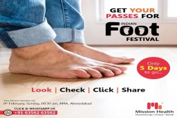 Have you registered?  Look l Check l Click l Share Get your Passes for The Indian Foot Festival  Passes available at all Mission Health Branches  Call: +916356263562 Visit: www.missionhealth.co.in  #IndianFootFestival #ComingSoon #FootClinic #footpain #footcare #foothealth #heelpain #anklepain #flatfeet #painrelief #healthyfeet #happyfeet #MissionHealth #MissionHealthIndia #MovementIsLife