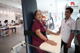 There is no greater joy than to bring back the smile on someone's face! Our rehab team always tries to maintain a lighthearted, friendly, and happy environment for the patients to get back to normalcy. With the help of Tilt Table, we help bedridden, wheelchair-bound patients transitionally bring into a progressively upright standing position. The encouraging vibes of Mission Health helps people who are unable to support their own weight due to neurological impairment or injury.  Mission Health Helpline number: +916356263562  www.missionhealth.co.in  #NeuroRehab #Robotics #AbilityClinic #Stroke #TraumaticBrainInjury #SpinalCordInjury #CerebralPalsy #DevelopmentalDelay #Neuropathies #MovementisLife #MissionHealthCenterofExcellence